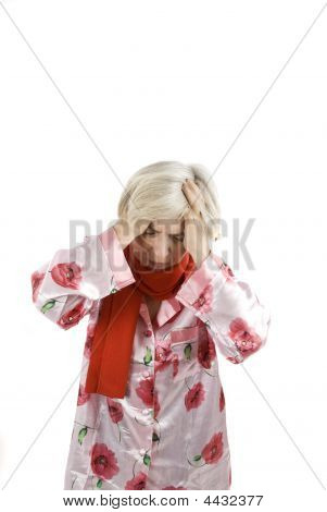 Headache Senior Woman