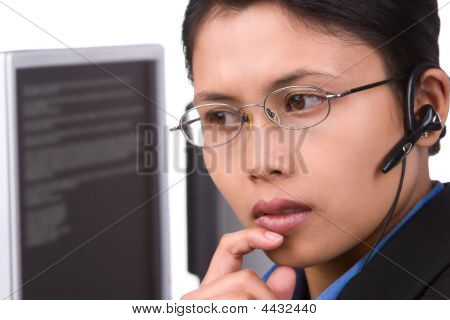 Cliente servicio está escuchando (lanzamiento horizontal)