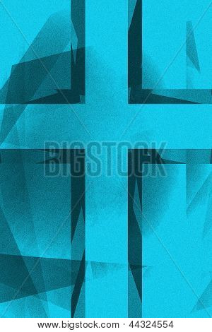 Vintage Blue Religious Cross Background