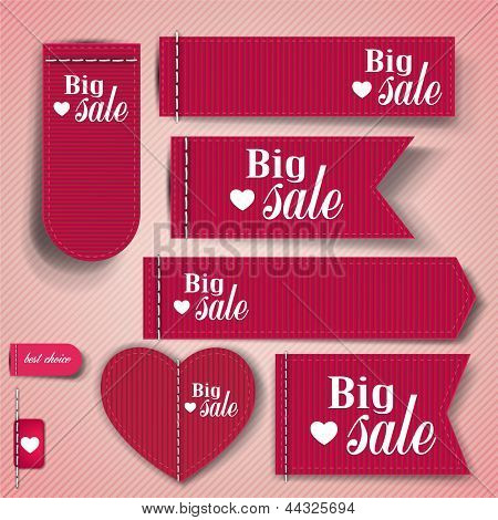 "Set of bubbles, stickers, labels, tags ""Big Sale"". Vector template"
