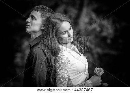 conflict and emotional stress in young people couple relationship outdoors