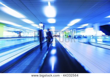 abstract background of moving escalator