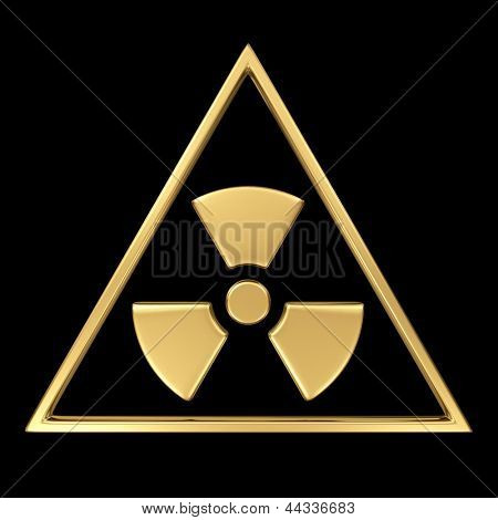 Radiation symbol on black