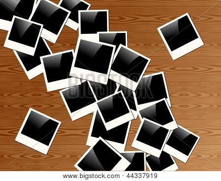 Retro Polaroid Photo Frame Background