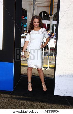 LOS ANGELES - APR 9:  Alyssa Milano arrives at the