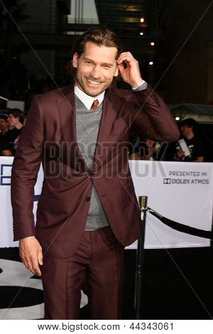 LOS ANGELES - APR 10:  Nikolaj Coster-Waldau arrives at the
