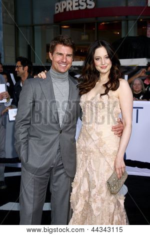 """LOS ANGELES - APR 10:  Tom Cruise, Andrea Riseborough arrives at the """"Oblivion"""" Premiere at the Dolby Theater on April 10, 2013 in Los Angeles, CA"""