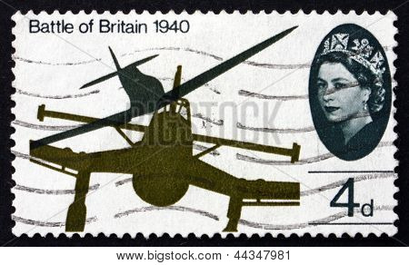 Postage Stamp Gb 1965 Wing Tips Of Me-109 And Spitfire