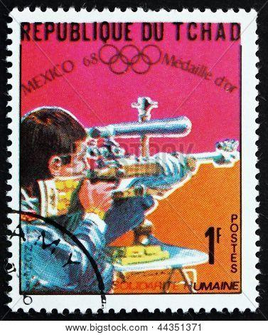 Postage Stamp Chad 1969 Bernd Klinger, Shooter