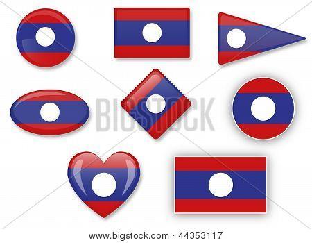 Flagge von Laos