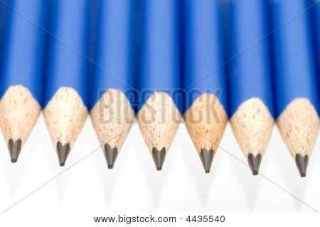 Pencils In A Straight Row
