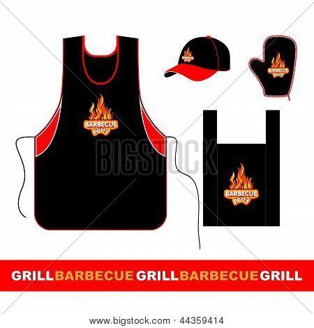 Barbecue set design.