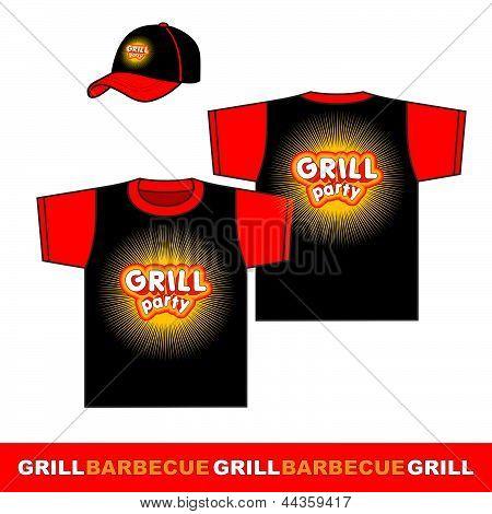 Grill t-shirt design.