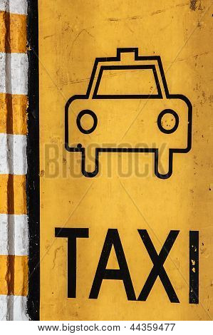 Taxi Parking Lot, Traffic Sign