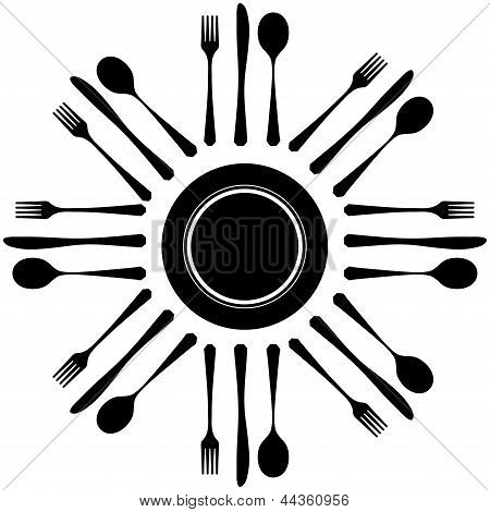 Cutlery on white