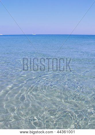 Clear sea and sandy beach