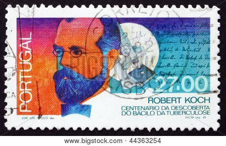 Postage Stamp Portugal 1987 Robert Koch
