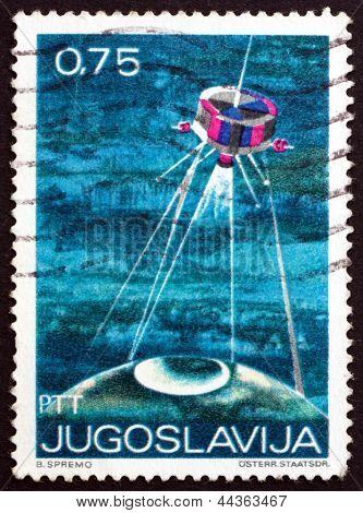 Postage Stamp Yugoslavia 1971 Satellite And Globe