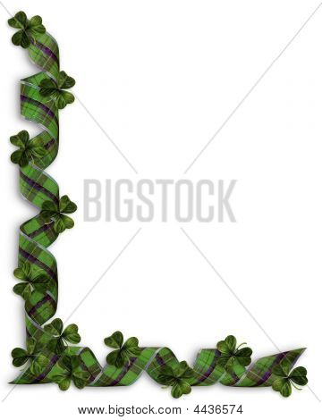 St Pattys Day Ribbons Border