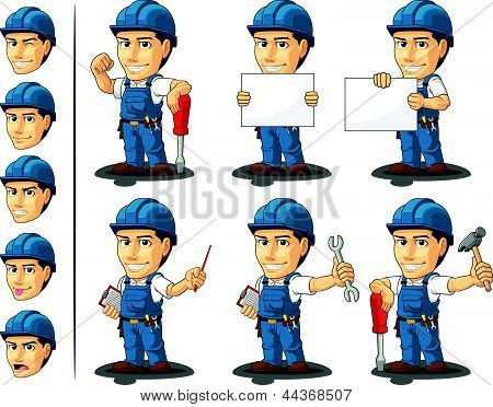Technician Or Repairman Mascot