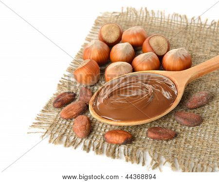 Chocolate, Hazelnuts And Cocoa Beans