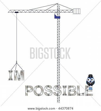 Impossible crane