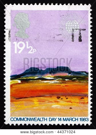 Postage Stamp Gb 1983 Desert, By Donald Hamilton Fraser