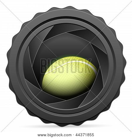 Camera Shutter With Tennis Ball