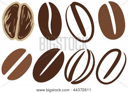 咖啡豆 库存矢量图和库存照片