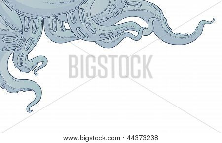 Vector Blue Tentacles
