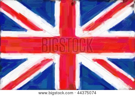 Union Jack Flag Painting