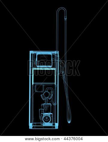 Gass Station (3D Xray Blue Transparent)