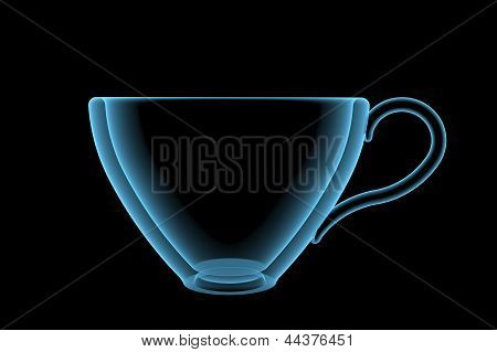 Empty Cup (3D Xray Blue Transparent)