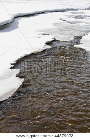 Degelo de Primavera no Canadá.
