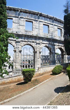 Amphitheater in Pula,Croatia