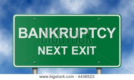 Sinal de saída próxima falência