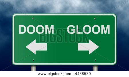 Doom e Gloom Road Sign