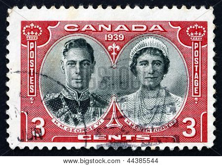 Postage Stamp Canada 1939 King George Vi And Queen Elizabeth