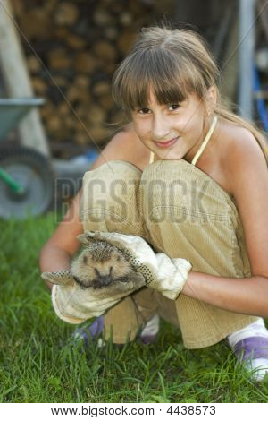 Girl With Hedgehog