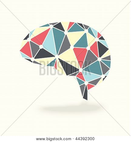 Vector of Abstract Brain Showing Activity