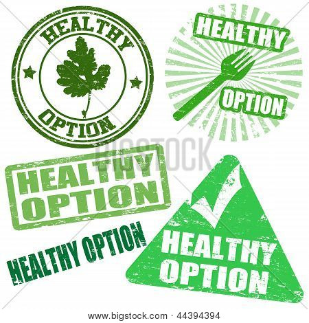 Set Of Healthy Option Stamps
