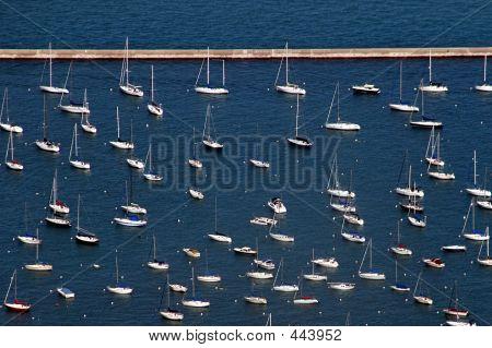 Sailboats – Aerial View