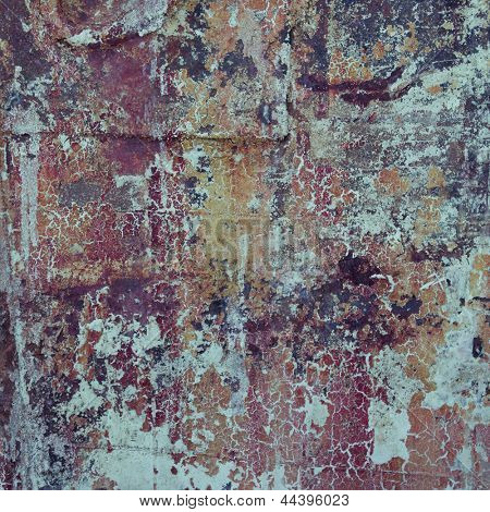 Abstract grunge background texture with old paint layers