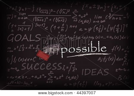 impossible word on Chalk Board