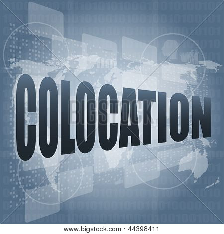Colocation - Media Communication On The Internet, art illustration