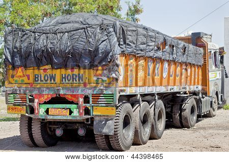 Blow Horn Indian Truck Parked Up