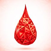 Abstract triangles vector drop of blood