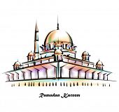 stock photo of hari raya aidilfitri  - Vector Illustration of Mosque - JPG