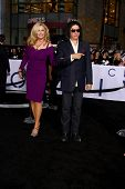 LOS ANGELES - APR 10:  Shannon Tweed Simmons, Gene Simmons arrives at the