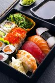pic of masago  - sushi and rolls - JPG